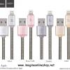 Hoco U5 Metal Lightning Charging Cable For iPhone สายชาร์จ หุ้มสปริง
