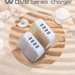 ที่ชาร์จ ยูเอสบี USB 4 ช่อง Adapter 4USB RP-U41 (Silver,Wave) - อะแดปเตอร์ REMAX