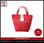 ถุงของขวัญ หูหิ้วสั้น สีแดง ลายจุด (Red Polka Dots Gift Bag, Type A)