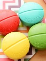 ตลับใส่ยา เม็ดยา สีฟ้า และ เขียวอ่อน