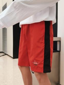 กางเกงขาสั้นเกาหลี แต่งเส้นขอบ มี2สี