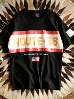 เสื้อยืดแขนสั้นเกาหลี ROUTE66 แนวแฟชั่น มี2สี