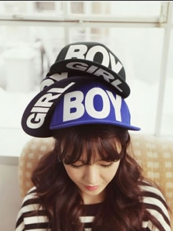 Pre Order หมวกแฟชั่น BoyGirl สไตล์ HipHop ปรับขนาดได้ มี5สี