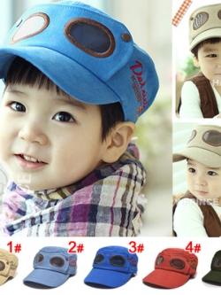 หมวกแฟชั่นเด็กเกาหลี แนวนักบิน ทรงเบสบอล มี5สี
