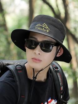 หมวกปีกกว้างเกาหลี TRAVELLERS ดีไซน์เท่ มี5สี