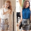 Pre Order เสื้อผู้หญิงแฟชั่นเกาหลี ผ้าชีฟอง แขนกุด ดีเทลเก๋ๆ สไตล์สาวเซกซี่ (มี2สี) thumbnail 1