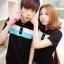 Pre Order ชุดคู่รักเกาหลี เสื้อโปโลแขนสั้น แต่งแถบสีตาดหน้าอก <มี4สี> thumbnail 1