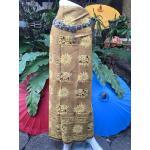 ผ้าถุงคอตต้อนลายช้างเขียนทอง
