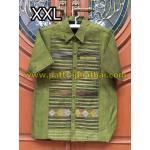 เสื้อเชิ๊ตผ้าฝ้ายทอมือลายน้ำไหลXXL