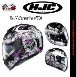 หมวกกันน็อค HJC IS-17 Barbwire MC31