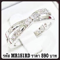 แหวนเพชร CZ รหัส MR151RD size 53