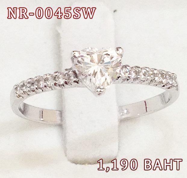แหวนเพชร CZ รหัส NR0045SW size 47