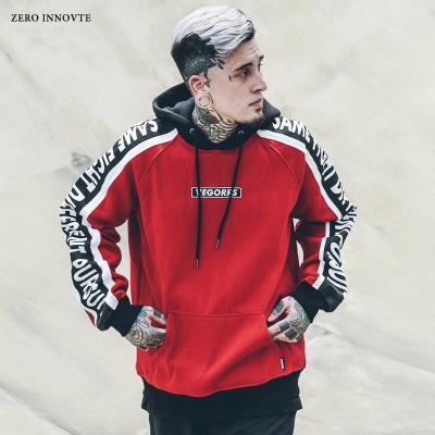 เสื้อฮู้ดแจ็คเก็ตแขนยาว Hiphop แต่งอักษรแขนเสื้อ มี3สี