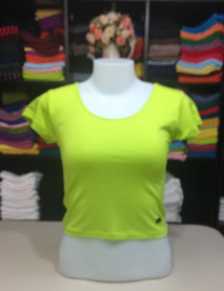 เสื้อยืดครึ่งตัว สีเขียวมะนาว