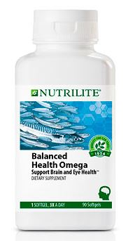 NUTRILITE Balanced Health Omega ขนาด 90 เม็ด น้ำมันปลาคุณภาพสูง ช่วยลดไขมันไตรกรีเซอราย บำรุงสมอง บำรุงสายตา Amway USA