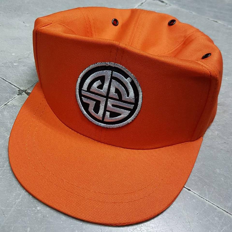 หมวกแก็ปยางยืด สีส้ม อสจร.
