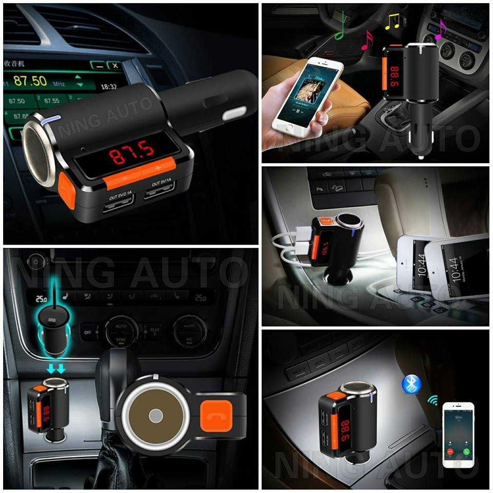 Bluetooth Car FM Transmitter Stereo