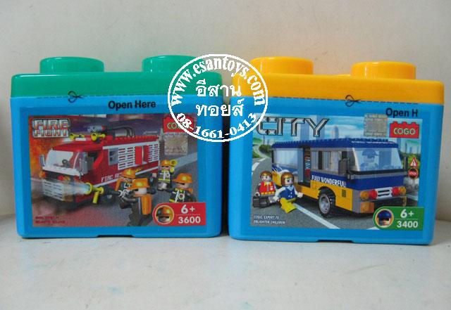 เลโก้ดับเพลิง+รถโดยสาร