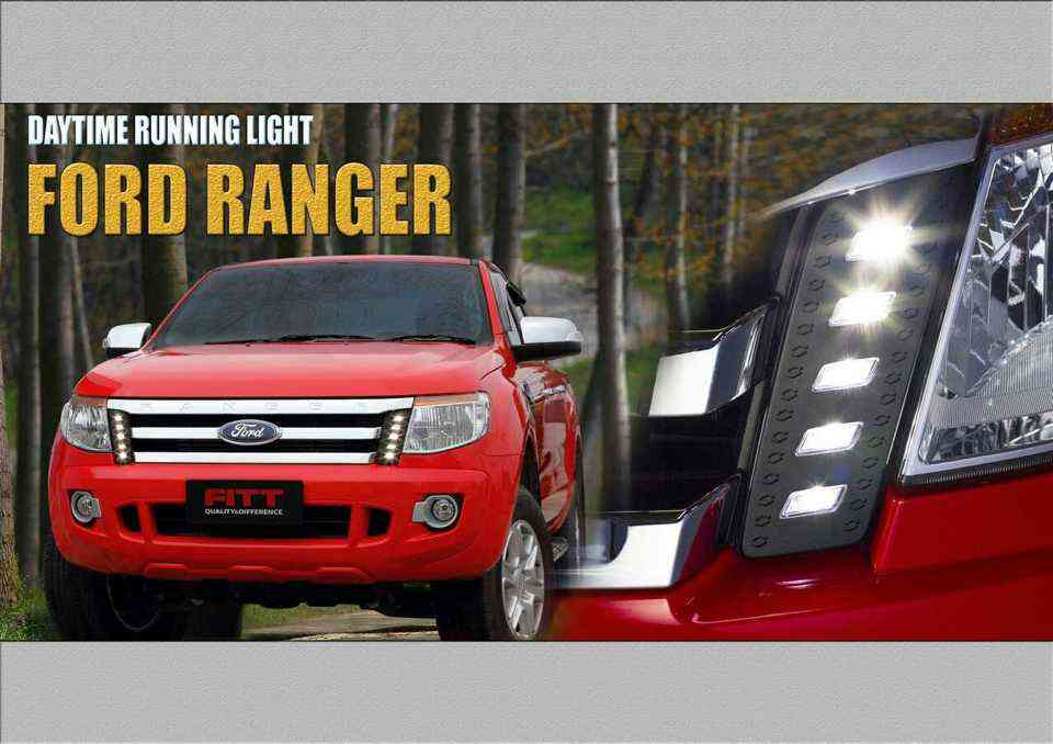 Daylight Running Time LED ตรงรุ่น Ford Ranger 2012 Fitt