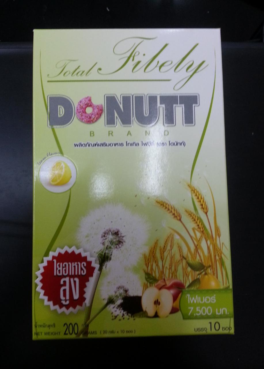 โดนัทดีท๊อก รสน้ำผึ้งมะนาว Donut Fibely