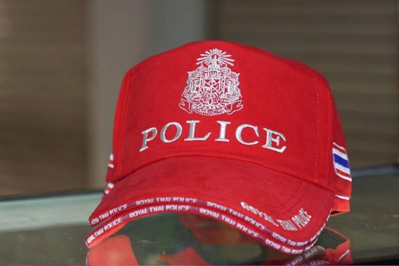 หมวกแก็ป ครูฝึก สีแดง ขอบหนา