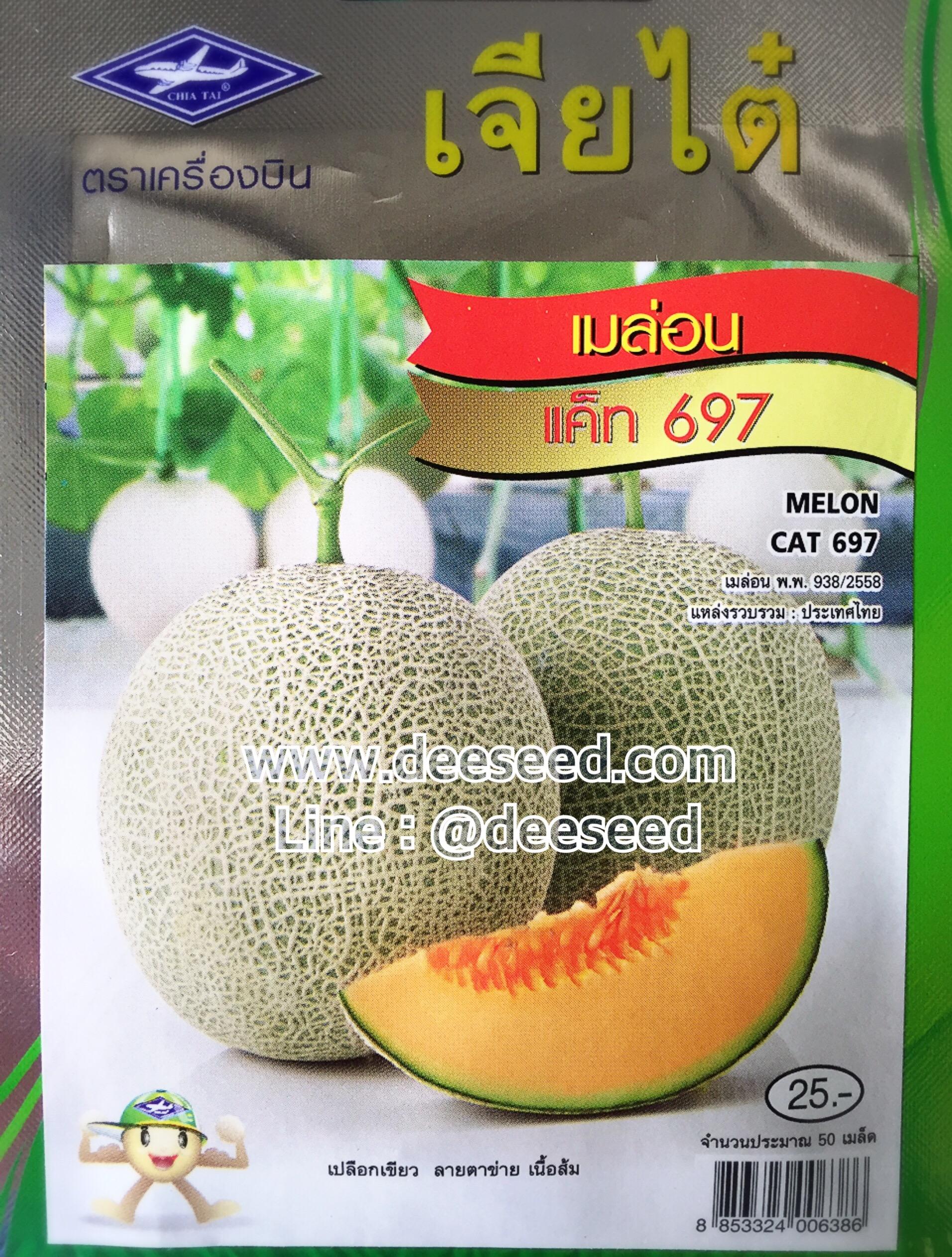 เมล่อน แค็ท 697 (เนื้อส้ม) 50เมล็ด