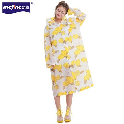 เสื้อฮู้ดกันฝนตัวยาวเกาหลี พิมพ์ลายทั้งตัว