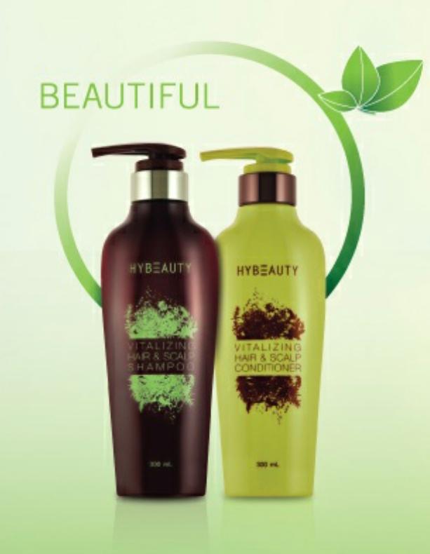 HyBeauty Vitalizing Hair & Scalp Shampoo Conditioner ลดความมันบนศรีษะ ลดผมร่วง กระตุ้นรากผมใหม่