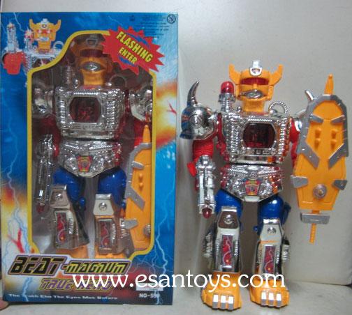 หุ่นยนต์ใส่ถ่านเดินได้มีเสียงมีไฟ