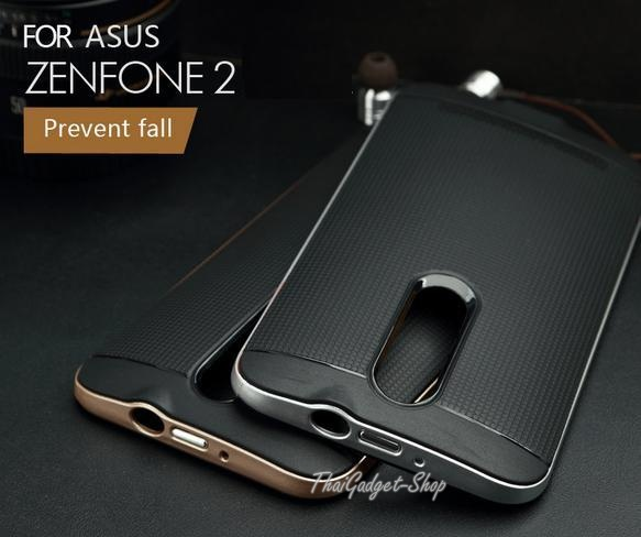 """เคส Asus ZenFone 2 ขนาด 5.5"""" ZE551ML ZE550ML กันกระแทกแบบ 2 in 1 high quality PC+TPU ตรงรุ่น"""