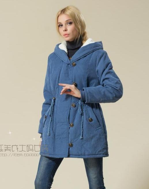 PreOrderเสื้อผ้าคนอ้วน - เสื้อกันหนาวไซส์ใหญ่ มีHood ด้านในเป็นขนสัตว์ สี : เขียว / น้ำเงิน / ส้ม / ดำ
