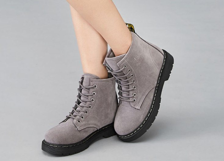 Pre Order - รองเท้ากันหนาว รองเท้าลุยหิมะ หนัง Pu ข้างในบุหนังสัตว์ สูง 17.5cm สี : เทา / ดำ / น้ำตาล ไซส์ 35 / 36 / 37 / 38 / 39 / 40