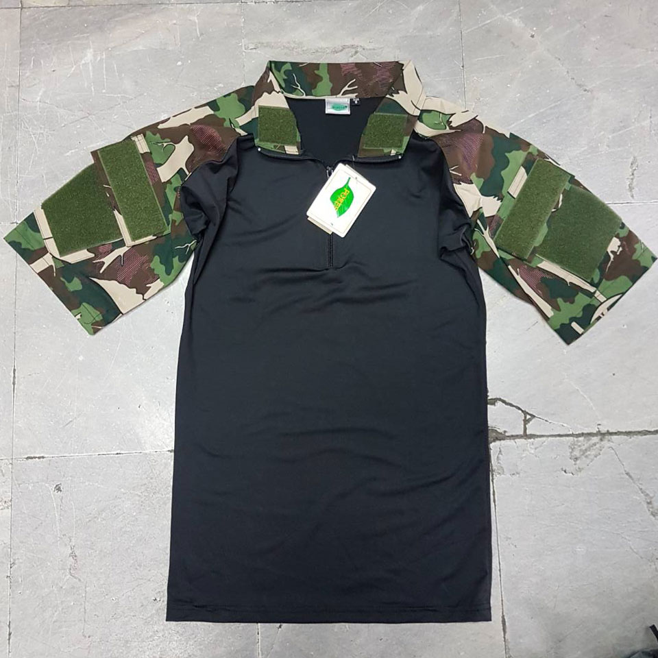 เสื้อ Combat Shirt แขนสั้น - พรางป่าไม้