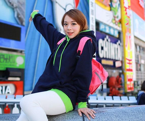 Pre Order - เสื้อกันหนาวแฟชั่น ดีไซด์สดใส : สีส้ม / สีเขียว / สีน้ำเงิน / สีเทา