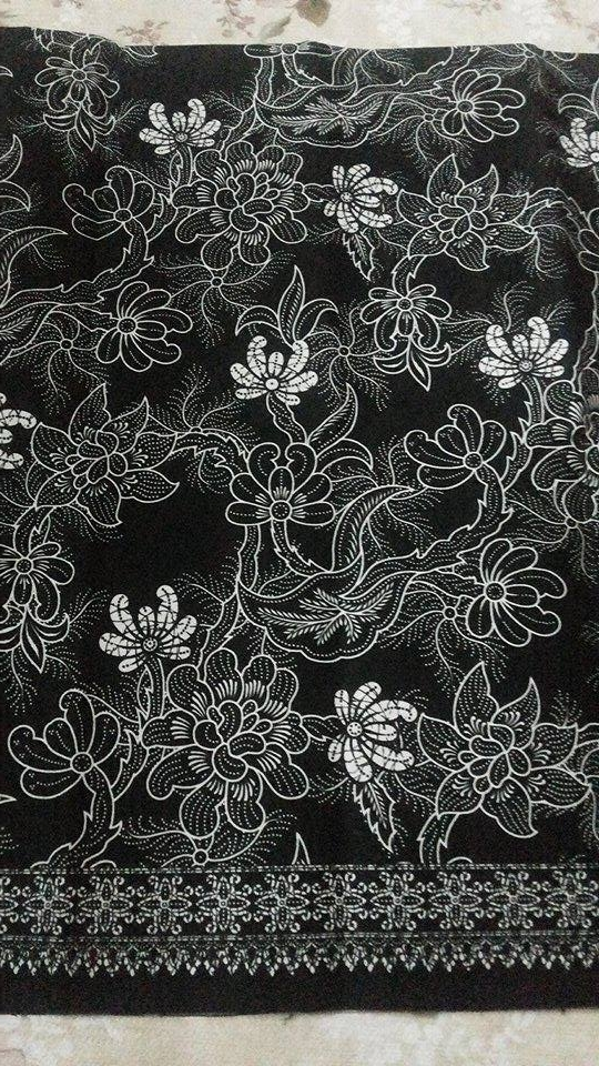 ผ้าถุงคอตต้อนขาวดำ