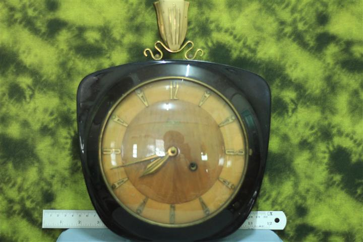 T0683 นาฬิกาแขวนไขลานเยอรมันโบราณ Garant Schwebe Ankeruhr ส่ง EMS ฟรี