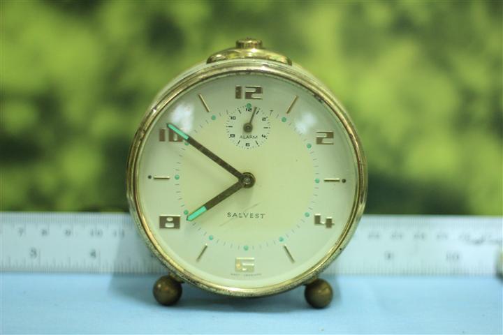 T0653 นาฬิกาปลุกเยอรมันโบราณ Salvest ส่ง EMS ฟรี