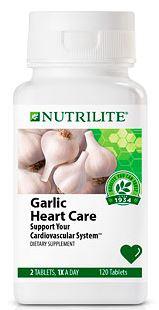 Nutrilite Garlic Heart Care ลดความดันโลหิตสูง ลดน้ำตาลในเลือด ลดคลอเลสเตอรอล เพิ่มภูมิต้านทานหวัด Amway USA