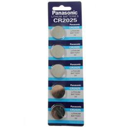 ถ่านกระดุม Panasonic CR2025 1 แผง 5 ก้อน