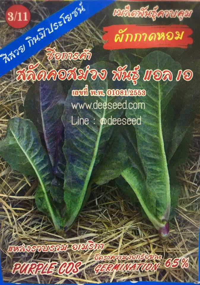 สลัดคอส สีม่วง (ประมาน300 เมล็ด)