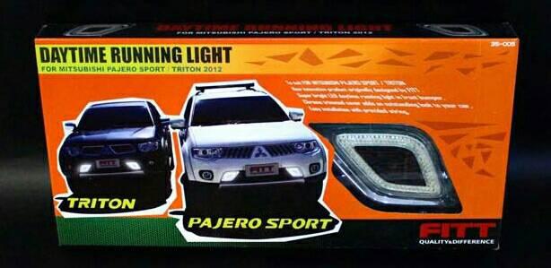 ชุดไฟ LED Day time Pajero Sport งาน Fitt Ver.2