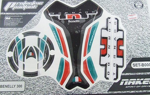 สติกเกอร์ กันรอยถัง+ฝาถัง Benelli TNT 300 (SET-B0002)