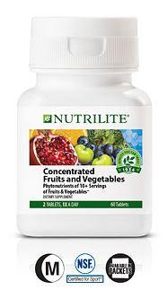 Nutrilite Concentrated Fruits and Vegetables ผักผลไม้เข้มข้น ไฟโตนิวเทรียน เกรด A จาก Amway USA