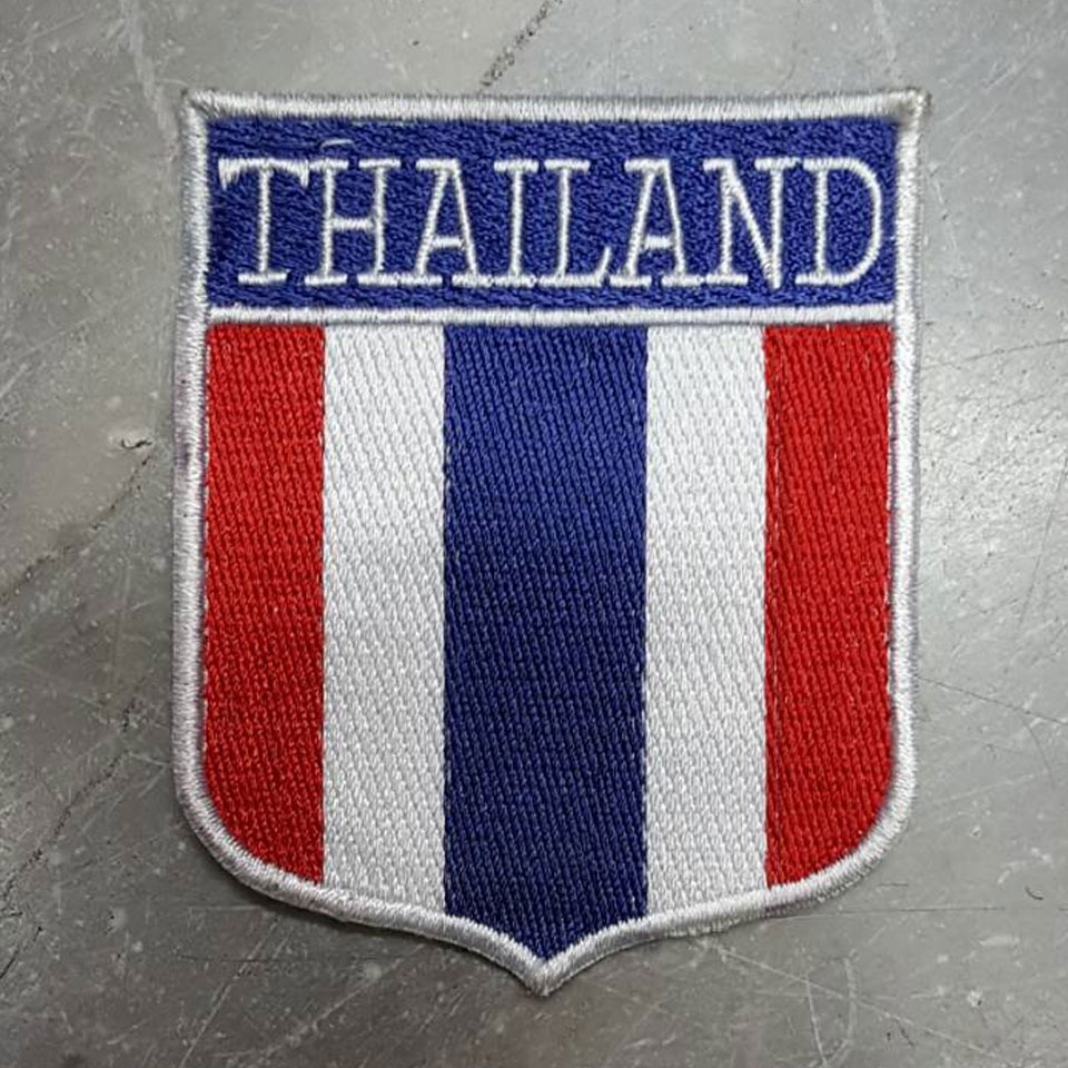 อาร์มธงชาติไทย THAILAND ตีนตุ๊กแก