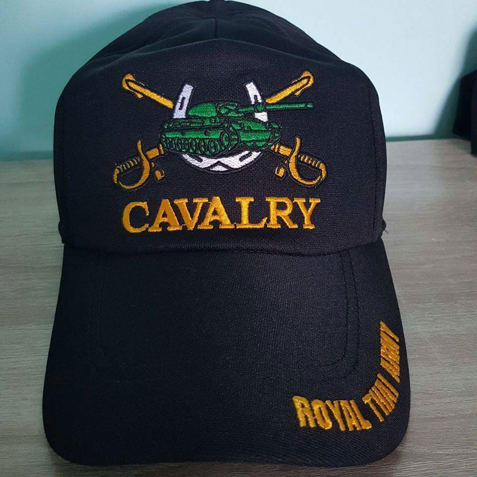 หมวกแก็ป ทหารม้า Cavalry ดำ