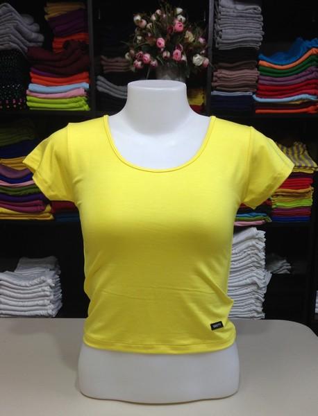 เสื้อยืดครึ่งตัว สีเหลืองดอกคูณ