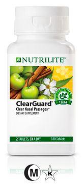 Nutrilite ClearGuard Dietary Supplement ช่วยลดอาการภูมิแพ้อากาศ ให้ช่องจมูกโล่ง ภายใน 3 วัน Amway USA