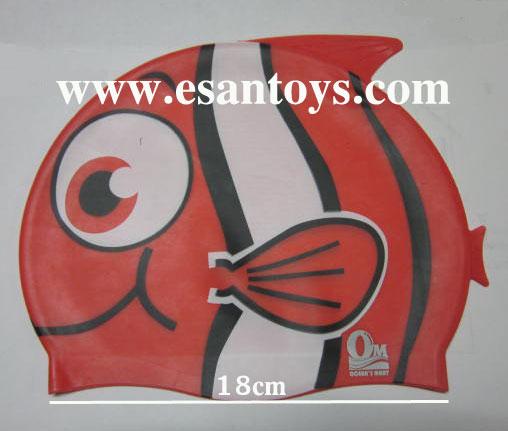หมวกว่ายน้ำรูปปลา