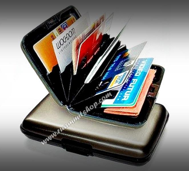 กระเป๋าสตางค์อลูมิเนียม Aluma Wallet กระเป๋าใส่ นามบัตร