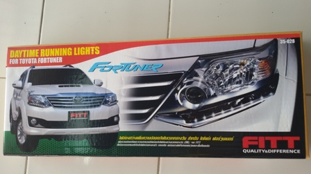 Daylight Running Time LED FITT ใต้โคมไฟหน้า ตรงรุ่น Toyota Fortuner2012